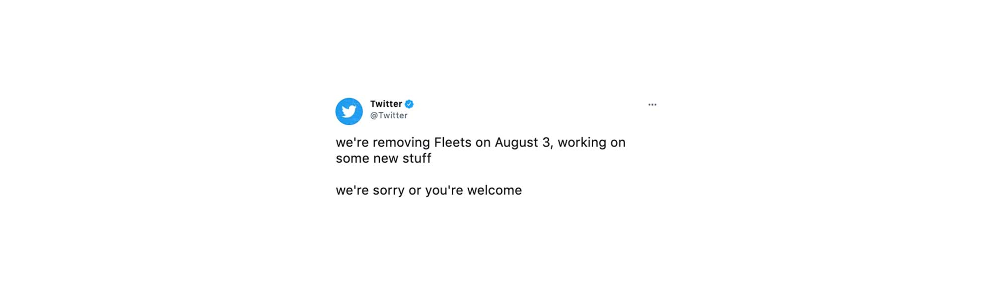 The Expiration of Twitter's Fleets Functionality